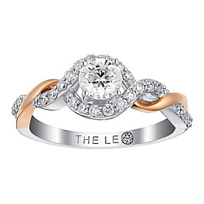 Leo Diamond 18ct white and rose gold 3/4ct I I1 diamond ring - Product number 3822214