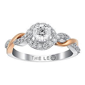 Leo Diamond 18ct white and rose gold 3/4ct I I1 diamond ring - Product number 3822214