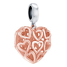 Chamilia Caged Hearts rose gold-plated charm - Product number 3822680