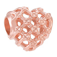 Chamilia Woven Heart rose gold-plated charm - Product number 3822869