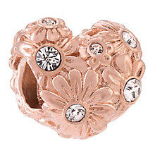 Chamilia Zinnia Heart rose gold-plated crystal charm - Product number 3823199