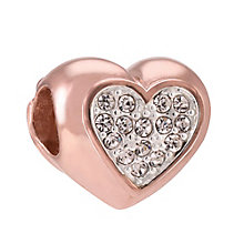 Chamilia Electric Love rose gold-plated crystal charm - Product number 3823539