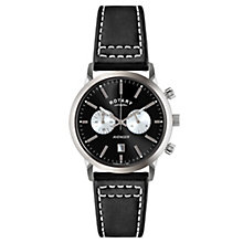 Rotary Avenger Men's Stainless Steel Black Strap Watch - Product number 3823547