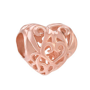 Chamilia Filigree Heart rose gold-plated charm - Product number 3823695