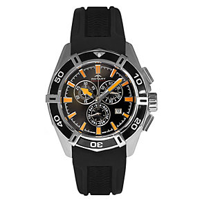 Rotary Pacific men's stainless steel black strap watch - Product number 3823873