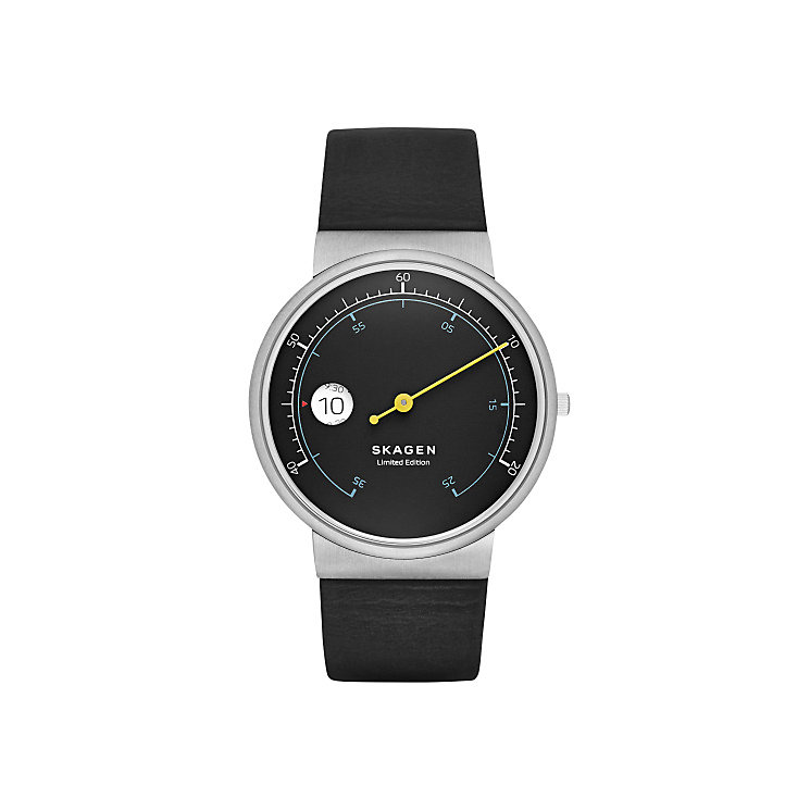 Skagen Ancher Men's Stainless Steel Black Strap Watch - Product number 3823997