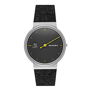 Skagen Ancher men's stainless steel grey strap watch - Product number 3824012