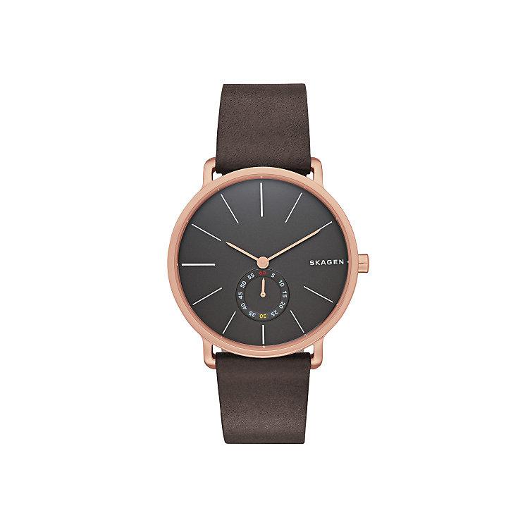 Skagen Hagen Men's Rose Gold Tone Grey Strap Watch - Product number 3824047