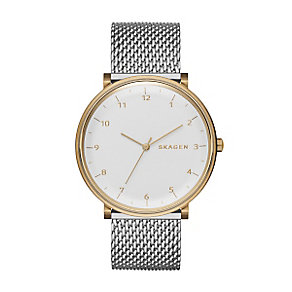 Skagen Men's Two Colour Stainless Steel Mesh Bracelet Watch - Product number 3824551