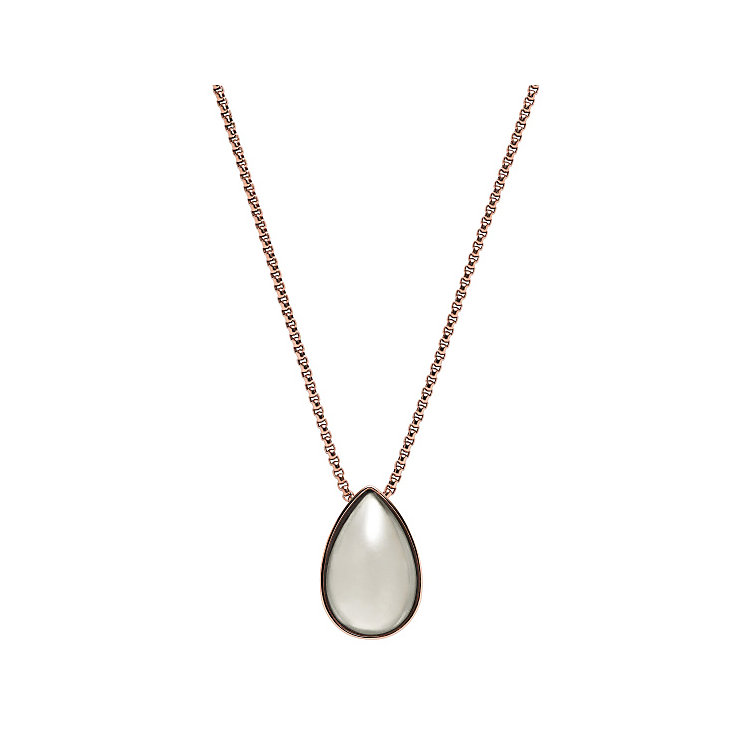 Skagen Rose Gold Tone Sea Glass Necklace - Product number 3824896