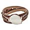Skagen Sea Glass Rose Gold Tone Leather Bracelet - Product number 3824918