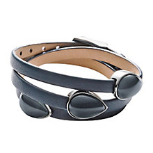 Skagen Sea Glass Stainless Steel Blue Leather Bracelet - Product number 3824993