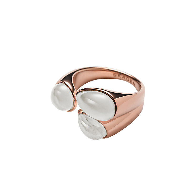 Skagen Sea Glass Rose Gold Tone Ring K - Product number 3825000