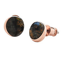 Skagen Faro Labradorite Rose Gold Tone Stud Earrings - Product number 3825027