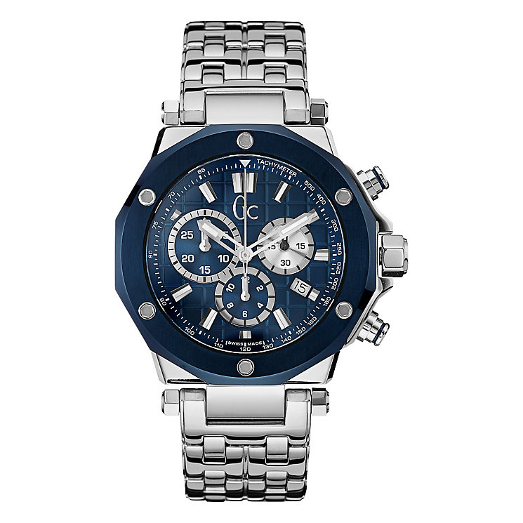 Gc Men's Stainless Steel Gc3 Blue Bracelet Watch - Product number 3825086