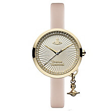 Vivienne Westwood Bow ladies' gold-plated strap watch - Product number 3825175