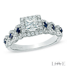 Vera Wang 18ct white gold 0.95ct H1/SI2I1 diamond ring - Product number 3825604