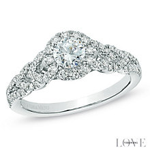 Vera Wang 18ct white gold 0.70ct H1/SI2I1 diamond ring - Product number 3826007