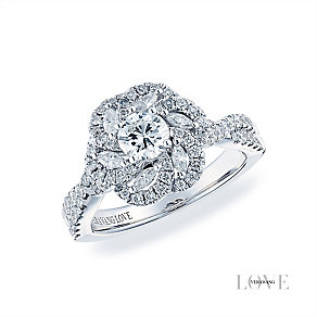 Vera Wang 18ct white gold 1.18ct H1/SI2I1 diamond ring - Product number 3826279