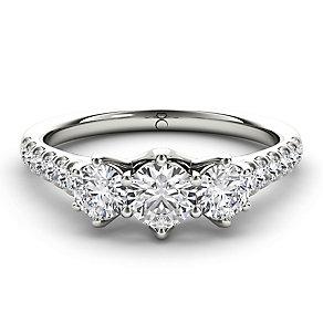 The Diamond Story 18ct White Gold 3 Stone 1ct Diamond Set - Product number 3828433