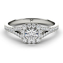 The Diamond Story 18ct White Gold 0.50ct HI I1 Halo Ring - Product number 3828565