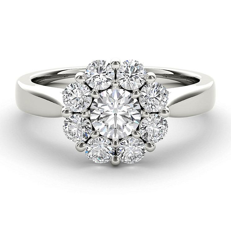 The Diamond Story 18ct White Gold 1ct HI I1Flower Burst Ring - Product number 3828972
