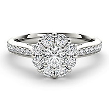 The Diamond Story 18ct White Gold 1ct HI I1Flower Burst Ring - Product number 3829103