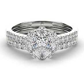 The Diamond Story 18ct White Gold 1ct Flower Bridal Set - Product number 3829235