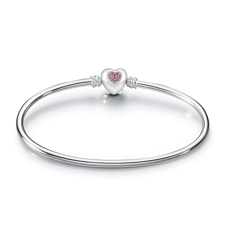 Chamilia Pink Swarovski Zarconia Brilliant Heart Bangle - Product number 3829820