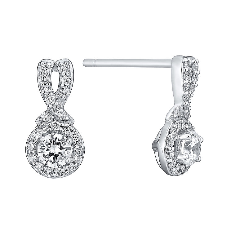 Leo Diamond 18ct white gold 1/2ct I I1 diamond earrings - Product number 3829839