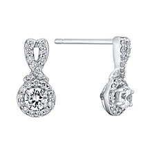 Leo Diamond 18ct white gold 0.50ct I I1 diamond earrings - Product number 3829839