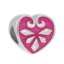 Chamilia Sterling Silver Fuchsia Pointed Heart Bead - Product number 3829855
