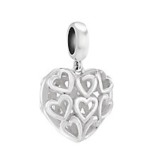 Chamilia Sterling Silver Bright Caged Hearts Bead - Product number 3829863