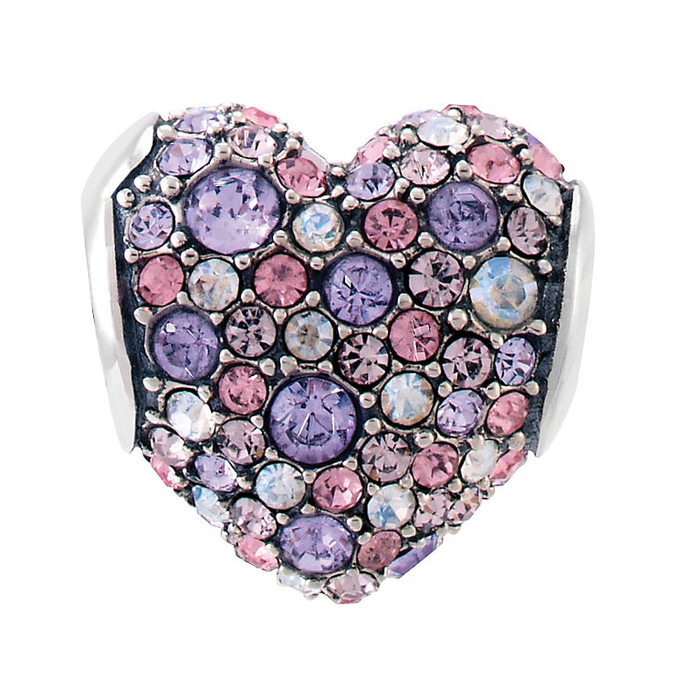 Chamilia Sterling Silver Blue & Violet Swarovski Heart Bead - Product number 3829928