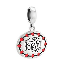 Chamilia Sterling Silver Red Enamel Heart Strings Charm Bead - Product number 3829944