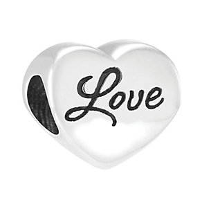 Chamilia Sterling Silver Blossom Heart Love Bead - Product number 3829960