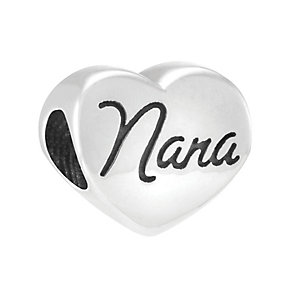 Chamilia Sterling Silver Crystal Blossom Heart Nana Bead - Product number 3830004