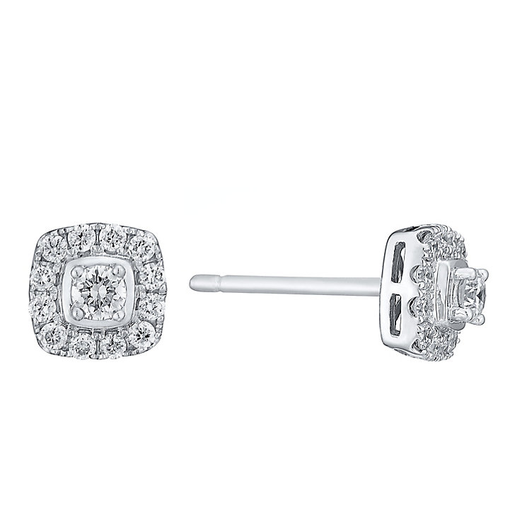 Leo Diamond 18ct white gold 0.40ct I I1 diamond earrings - Product number 3830012