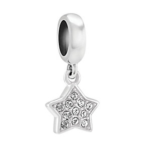 Chamilia Sterling Silver Crystal Petite Star Charm Bead - Product number 3830101