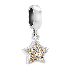 Chamilia Golden Shadow Swarovski Petite Star Charm Bead - Product number 3830128