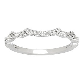 Neil Lane 14ct White Gold 0.18ct Shaped Wedding Band Ring - Product number 3830357