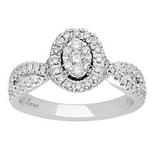 Neil Lane 14ct White Gold 0.62ct Halo Twist Ring - Product number 3830497