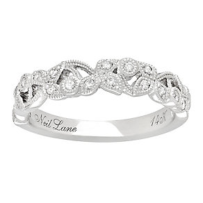 Neil Lane 14ct White Gold 0.21ct Diamond Vine Wedding Ring - Product number 3830888
