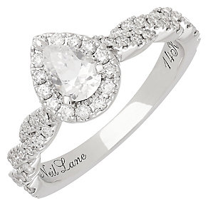 Neil Lane 14ct White Gold 0.71ct Diamond Halo Twist Ring - Product number 3831019