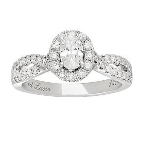 Neil Lane 14ct White Gold 0.95ct Halo Ring - Product number 3831272