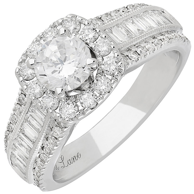 Neil Lane 14ct White Gold 1.75ct Diamond Halo Ring - Product number 3831671
