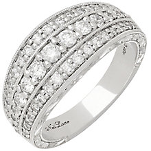 Neil Lane 14ct White Gold 0.83ct Diamond 3 Row Bridal Ring - Product number 3832260