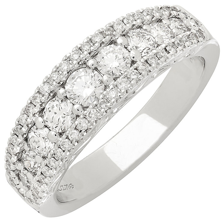 Neil Lane 14ct White Gold 0.97ct Diamond 3 Row Bridal band - Product number 3832406