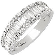 Neil Lane 14ct White Gold 1.15ct 3 Row Ring - Product number 3832554
