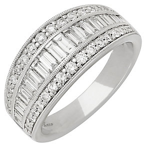 Neil Lane 14ct White Gold 1.06ct Diamond 3 Row Ring - Product number 3832686